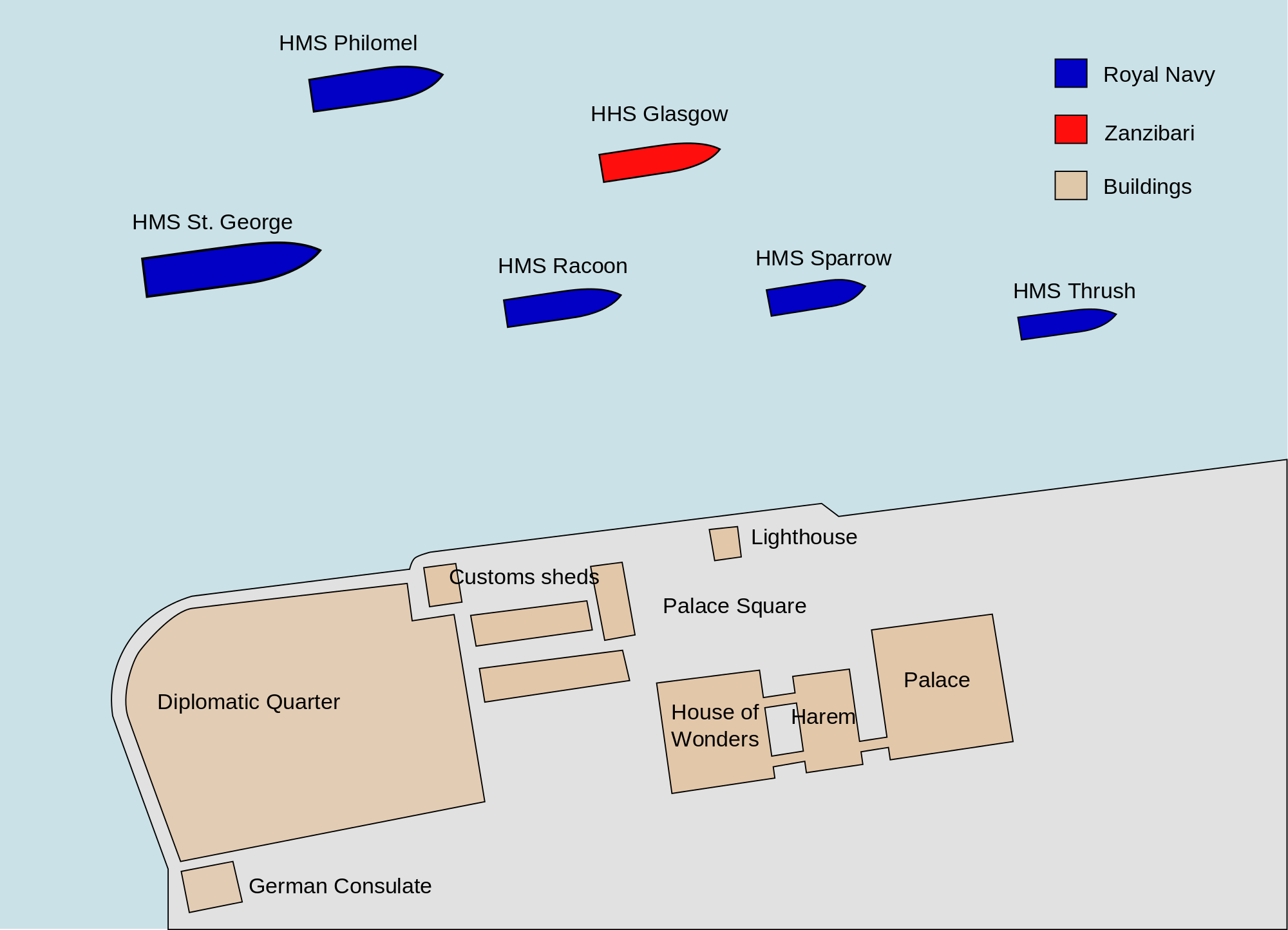 Map of battle ships' positions at 09.00, before battle