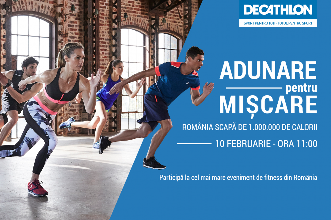 eveniment calorii decathlon